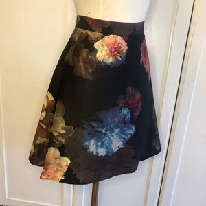Club Monaco Floral Printed Fit and Flare Skirt